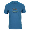 LIFE IS GOOD Men`s Hang Time Friends Tee Extra Blue