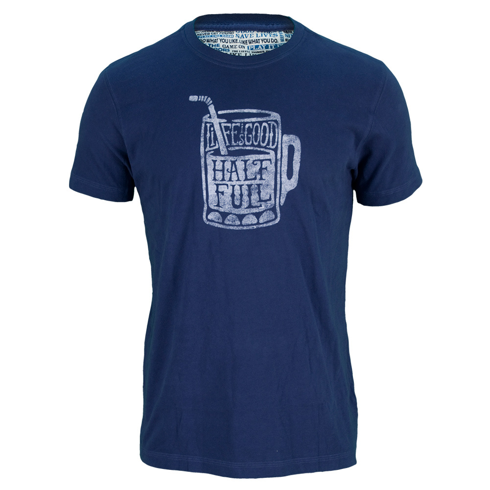 Men's Half Full Tee Darkest Blue