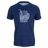 LIFE IS GOOD Men`s Half Full Tee Darkest Blue