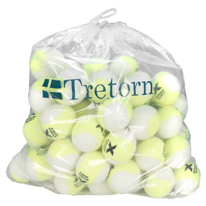 TRETORN MICRO X TENNIS BALL YELLOW/WH 72 COUNT