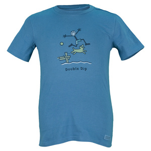 LIFE IS GOOD BOYS DOUBLE DIP TEE EXTRA BLUE