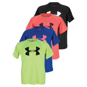 UNDER ARMOUR BOYS BIG LOGO TECH SHORT SLEEVE TEE