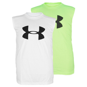 UNDER ARMOUR BOYS BIG LOGO TECH SLEEVELESS TEE