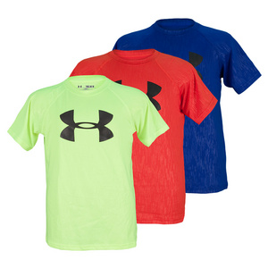 UNDER ARMOUR BOYS EMBOSSED TWIST TECH TEE