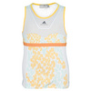 ADIDAS Girls` Stella McCartney Barricade Tennis Tank White and Wonder Glow Print