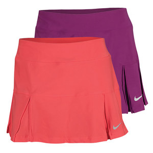 NIKE WOMENS 4 PLEATED KNIT 14 IN TENNIS SKIRT