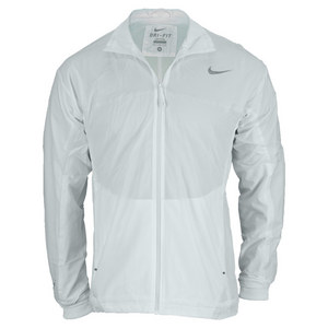 NIKE MENS PREMIER RAFA TENNIS JACKET WHITE