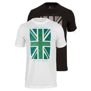 NIKE MENS UNION GRASS SHORT SLEEVE TENNIS TEE