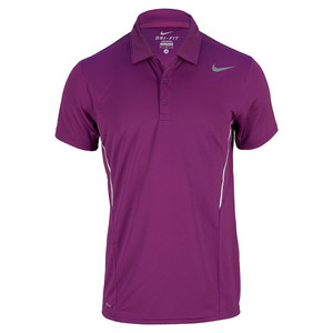NIKE MENS POWER UV TENNIS POLO BRIGHT GRAPE