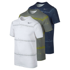 NIKE BOYS RALLY SPHERE STRIPE TENNIS CREW