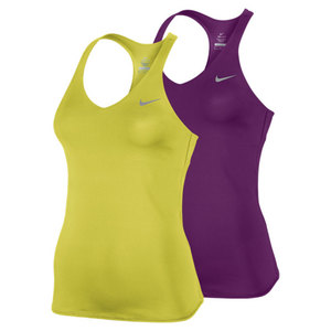 NIKE WOMENS ADVANTAGE SOLID TENNIS TANK
