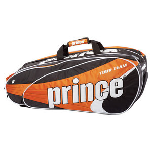 PRINCE TOUR TEAM 9 PACK TENNIS BAG ORANGE