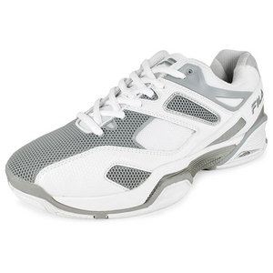 Men`s Sentinel Tennis Shoes White and Metallic Silver