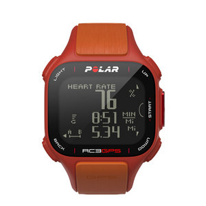 RC3 GPS With Heart Rate Watch Red and Orange