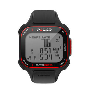 POLAR RC3 GPS WITH HEART RATE WATCH BLACK