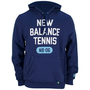 NEW BALANCE MENS MUNI TENNIS HOODY TECHTONIC BLUE