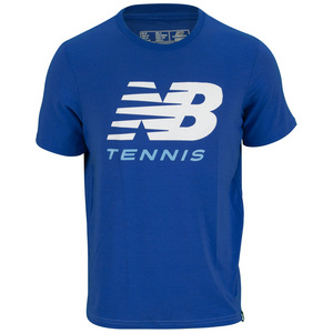 NEW BALANCE MENS BIG BRAND TENNIS TEE COBALT