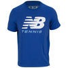 NEW BALANCE Men`s Big Brand Tennis Tee Cobalt