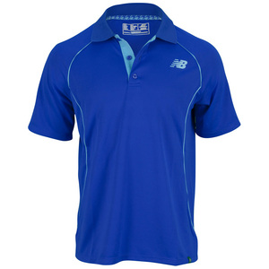 NEW BALANCE MENS BASELINE TENNIS POLO COBALT