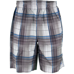 NEW BALANCE MENS COURT TENNIS SHORT COBALT PLAID