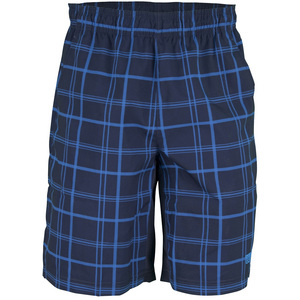 WILSON MENS RUSH PLAID 10 IN TNS SHORT MID NAVY