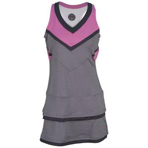 BOLLE WOMENS MAI TAI TENNIS DRESS ASH/FUCHSIA