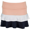 TAIL Girls` Palmetto Dunes Tenns Skort Papaya and White