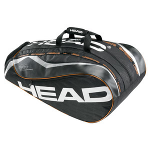 HEAD DJOKOVIC MONSTERCOMBI TENNIS BAG BK/CHAR