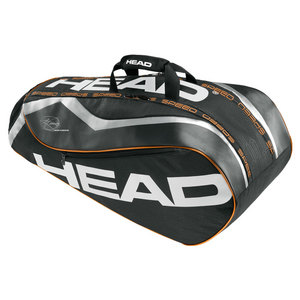 HEAD DJOKOVIC COMBI TENNIS BAG BLACK/CHARCOAL