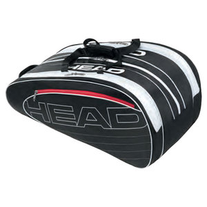 HEAD ELITE MONSTERCOMBI TENNIS BAG BLACK/WHT