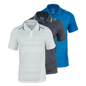 WILSON MENS SPECIST ENGINRD MSH STRPD TNS POLO
