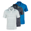 WILSON Men`s Specialist Engineered Mesh Stripped Tennis Polo