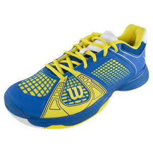 WILSON MENS RUSH NGX TENNIS SHOES BLUE/YELLOW