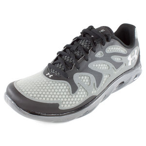 UNDER ARMOUR MENS SPINE EVO RUNNING SHOES BLACK/GRAY