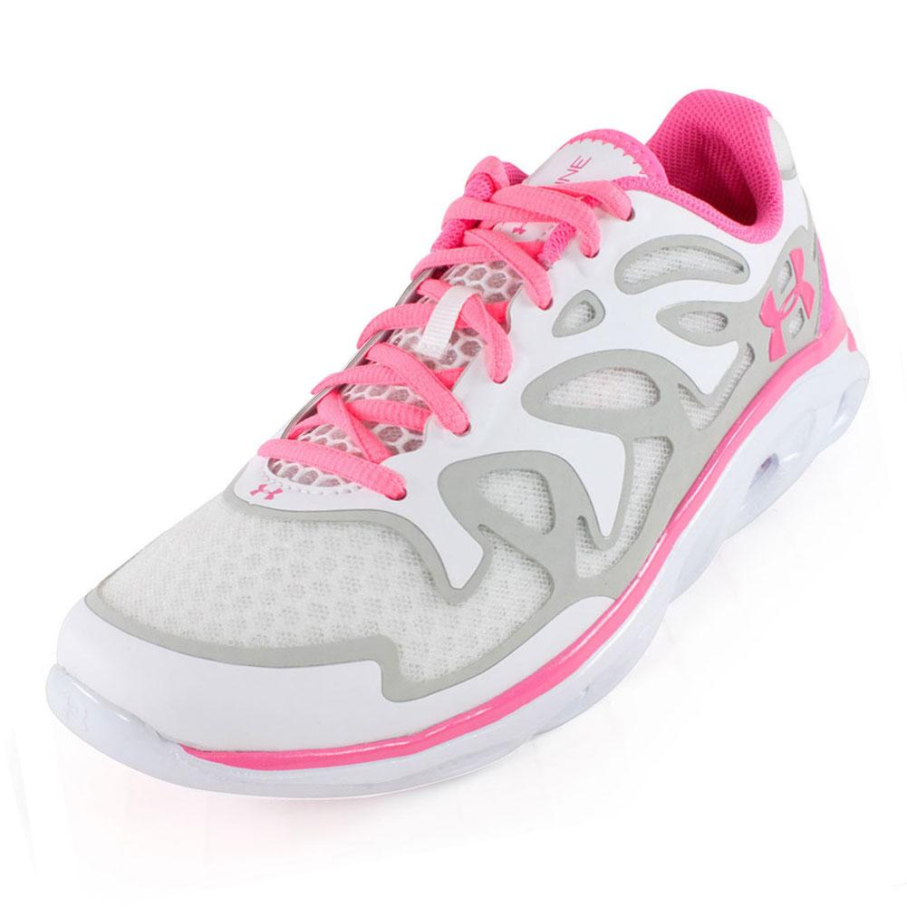 under armour running shoes white. under armour women\u0027s micro g spine evo running shoes white and pink under armour