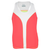 FILA Girls` Baseline Tennis Tank Diva Pink and White