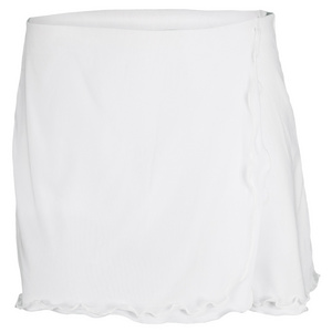VICKIE BROWN WOMENS FLUTTER LAYERED TENNIS SKORT WHIT