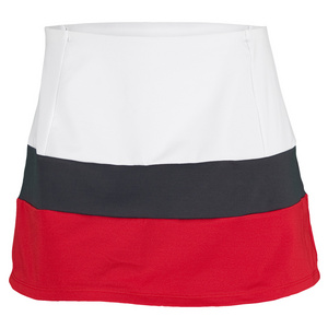 VICKIE BROWN WOMENS MICHELLE TENNIS SKORT WHITE/GRAY