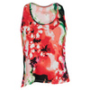 Women`s Swing Tennis Tank Pink Floral Print by VICKIE BROWN