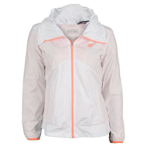 LOTTO WOMENS NIXIA TENNIS JACKET WHITE