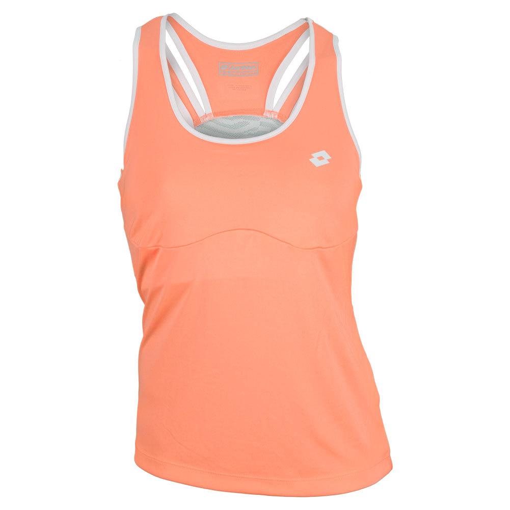 Women's Nixia Tennis Tank Fluo Carrot