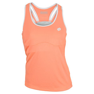 LOTTO WOMENS NIXIA TENNIS TANK FLUO CARROT