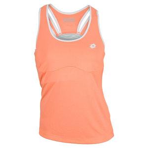 Women`s Nixia Tennis Tank Fluo Carrot
