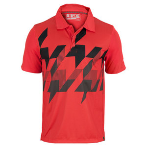 NEW BALANCE MENS GEOSPEED TENNIS POLO VELOCITY RED