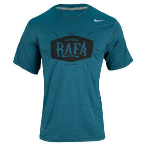 NIKE MENS RAFA TENNIS TEE DARK GREEN