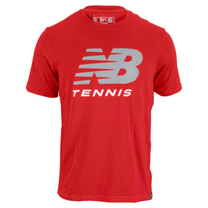 NEW BALANCE MENS BIG BRAND TENNIS TEE VELOCITY RED