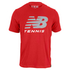 NEW BALANCE Men`s Big Brand Tennis Tee Plum Kitten