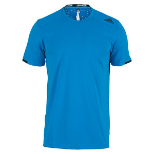adidas MENS ALL PREM CLIMA CHILL TEE SOLAR BLUE