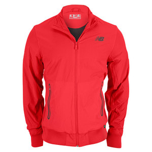 NEW BALANCE MENS GEOSPEED TENNIS JACKET VELOCITY RED