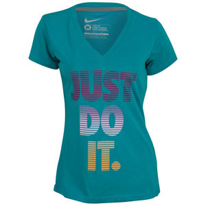 NIKE WOMENS HORIZON JDI DF CTTN TRAIN V NECK